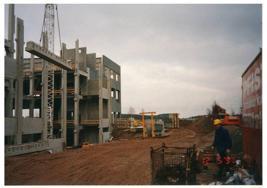 Отделочные работы на предприятии в 1997